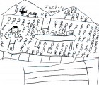 3rd Graders visit the Zachary House in Sept 2005.  Drawing by Taylor Cranfill