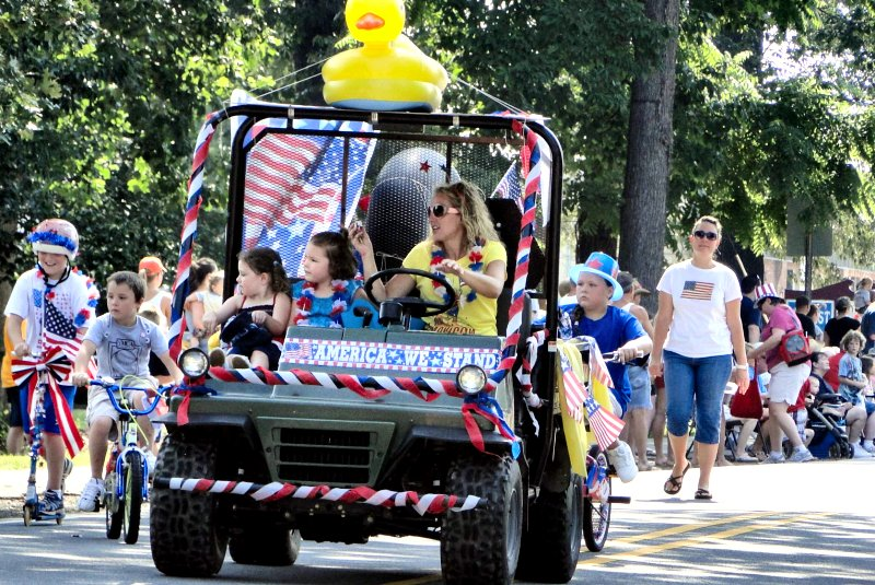 Free Event – 20th Annual Lawn Mower Parade – Wednesday, July 4th in Cooleemee! Ducks on Sale for Duck Race!