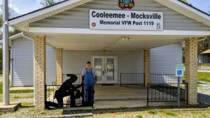 Cooleemee Mocksville Memorial VFW Post 1119 with Commander Wayne Seamon.